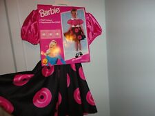 50's Barbie Child Costume Dress up Size Med 5-7 Yr. Dress, Belt and petticoat