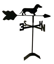 dachshund  weathervane black wrought iron look roof mount made in usaTLS1011RM