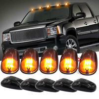 Smoke Lens Amber LED Cab Roof Marker Running Lights For Truck Pickup SUV 4x4 5pc