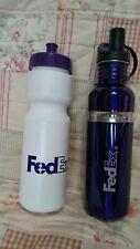 FEDEX PURPLE 1 STAINLESS STEEL WATER BOTTLE NEW 1 PLASTIC WATER BOTTLE SET OF 2