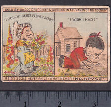 HMS Pinafore What Never? NO Never! Gilbert & Sullivan 1800s Reid Seed Trade Card
