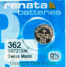 1 pc 362 Renata Watch Batteries SR721SW FREE SHIP 0% MERCURY