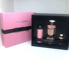 Prada Candy Florale Eau De Toilette Vaporisateur Spray - 3 PCS Gift Set - BNIB -