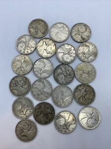 Lot Of 20 Canadian Silver Quarters All 1940's