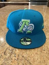 Altoona Curve MiLB Logo Aqua/Lime New Era 59Fifty Hat 7 3/4 Made In USA New