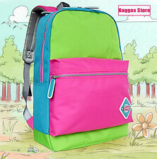 Sunelife Colorful Backpack School Rucksack Book Bag Casual Youth Outdoor Daypack