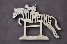 Jumping Pony Horse Wood Christmas Ornament Tack Room Decoration