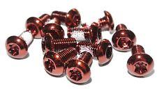 série 12 DISQUES DE FREIN Lot acier vis M5 x 10 mm, Torx en rouge de asihma