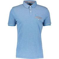 PENGUIN  Blue Gingham Trimmed Polo Shirt- Heritage Slim Fit- Men's -S
