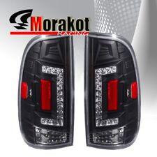 Ford F150 97-03/F250 99-07 2nd Gen LED Rear Brake Tail Light Clear Lens Black