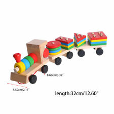 Train Toys Truck Wooden Geometric Blocks Baby Educational Developmental Kid Gift