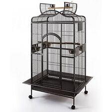 2 Color, Large Open Dome PlayTop Wrought Iron Parrot Amazon Parakeet Bird Cage