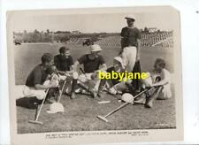 JACK HOLT ORIGINAL 8X10 PHOTO POLO TEAM 1932 THIS SPORTING AGE