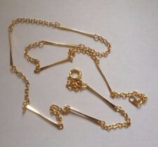 2 x Gold Plated Bar Link Necklace Chains - 18 Inches