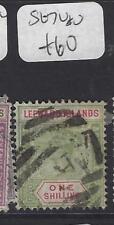 LEEWARD ISLANDS (P1610B)  QV   1/-   SG 7  VFU