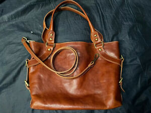 Florence Shoulder Leather Satchel bag Hand Made In Italy