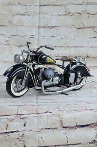Hand Made Harley Davidson Chopper Motorcycle 1:08 Scale Tin Plate Metal Artwork
