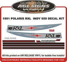 1991 POLARIS INDY RXL 650 DECALS graphics Reproduction