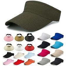 Men Women Visor Sun Hats Wide Brim Golf Tennis Sport Adjustable Beach Cap Unisex