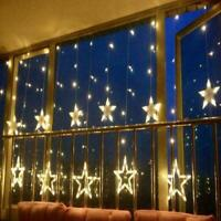 12 Stars Light String With 138LED Light Curtain Light Net Warm White Decoration
