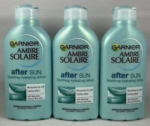 Garnier Ambre Solaire After Sun Soothing and Hydrating Lotion Pack Of 3