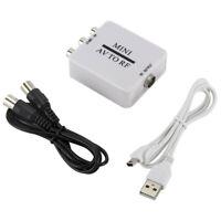 Mini Av Rca zu RF Konverter TV Video Plug Modulator Verstärker Usb-Kabel Signal