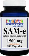 SAM-e Nervous System, Mood & Joint Support Maximum Strength 1500mg 180 capsules
