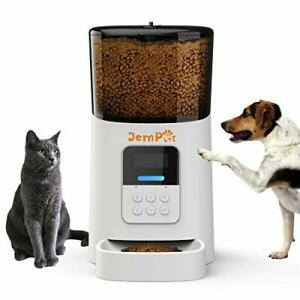 Automatic Pet Feeder for Dogs & Cats - Voice Recording Timer Programmable