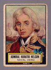 1952 Topps Look N See #109 Admiral Horatio Nelson EX no creases