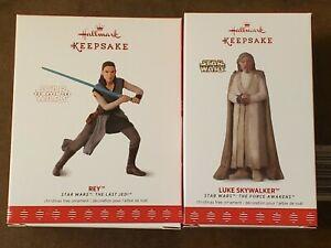 2017 New NIB HALLMARK KEEPSAKE ORNAMENT Star Wars Rey & Luke Skywalker Last Jedi