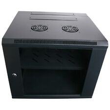 "9RU 550mm Deep Wall Mount Server Rack Cabinet & Rear Swing Frame 9U 19"" 19 Inch"