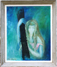 Grand tableau 1963 Désillusion par A. Morin Salon des indépendants