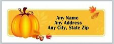 30 Personalized Address Labels Thanksgiving Buy 3 get 1 free (ac 182)