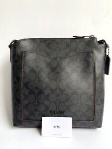 Coach * Men's Bag 89950 JIO79 Becket Pocket Crossbody Signature Canvas in Black