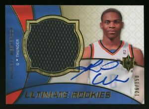 2008-09 UD Ultimate Rookies #127 Russell Westbrook RC Rookie Jersey AUTO 126/150