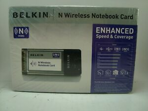 "Belkin F5D8013 ""N"" Wireless MIMO Notebook Card - Brand New In Sealed Box"