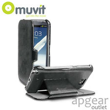 GENUINE MUVIT SAMSUNG GALAXY NOTE2 BLACK FOLIO STAND MUSSL0082 PHONE CASE COVER