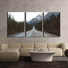 """Wall26 - Road in Mountain Area - Canvas Art Wall Home Decor - 16""""x24""""x3 Panels"""