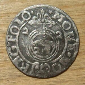 Antique Required Valuable Lithuanian Silver Coin Zygimantas III Vaza (#1), 1622.