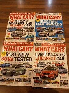 WHAT CAR Magazine last 4 editions July -Oct 2021