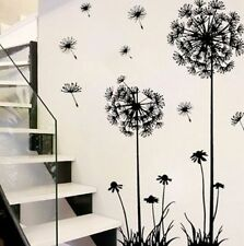 Black Dandelion Plant DIY Art Decal Mural Door Wall Sticker Home Decor Removable