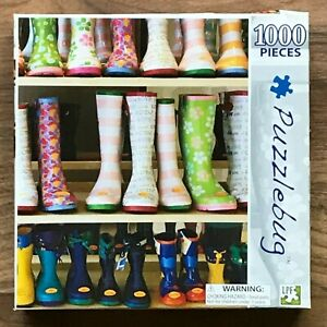 Puzzlebug COLOURFUL RUBBER BOOTS 1000 Pieces Jigsaw Puzzle
