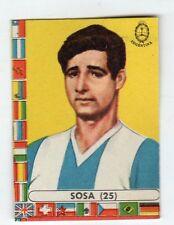 figurina - CALCIATORI CILE LAMPO 1962 - NUMERO 25 ARGENTINA SOSA