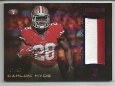 CARLOS HYDE 2014 PANINI ROOKIES & STARS2 COLORS PATCH ROOKIE #10  S/#13/25