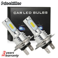 2x H7 LED Headlight Bulbs Conversion Super High/Low Beam 4000LM 6000K White 80W