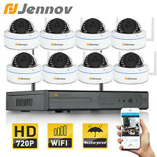 8ch NVR Wireless 720P Dome IP66 Day Night P2P Network Security IP Camera System
