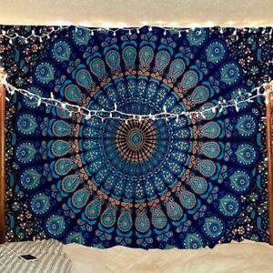 Peacock wing Bohemia Mandala Indian Wall Hanging tapestry,(POSTER (77X102CM)-187