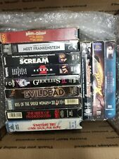 Classic Horror Vhs Lot Ghoulies 2 , Evil dead and more.
