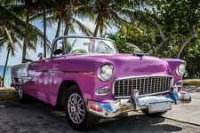 BEAUTIFUL CLASSIC CAR CANVAS PICTURE #52 STUNNING RETRO CARS IN CUBA A1 CANVAS