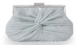 UK Satin Evening Prom Clutch Wedding Bridal Bag purse 16xa next day delivery